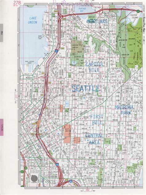 seattle map state seattle wa road map