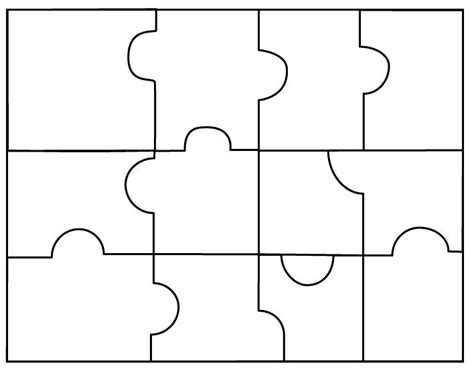 4 puzzle template 4 puzzle template clipart best back to school