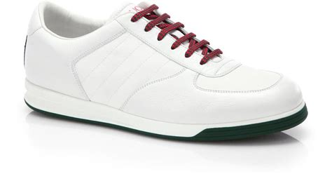 gucci sneakers sale lyst gucci 1984 leather anniversary sneakers in white
