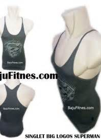 Singlet Fitness Superman Silver 089506541896 tri toko fitness polos