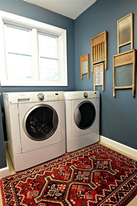 laundry room makeover reveal decor and the