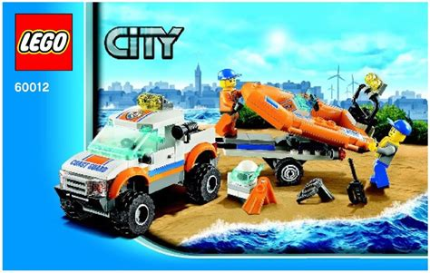 lego boat directions city 4x4 and diving boat lego 60012 kruse s lego