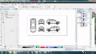 Car Wrap Templates Free by How To Make A Vehicle Wrap Template In Corel Draw