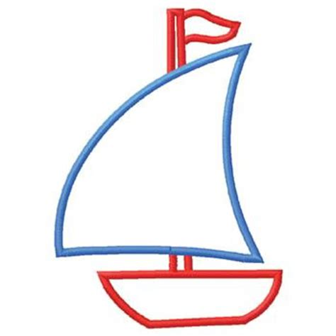 boat hull outline outlines embroidery design sailboat outline from gunold