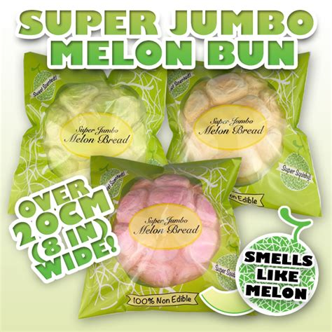 Jumbo Melon Squishy By Punimaru jumbo melon bun squishy puni maru