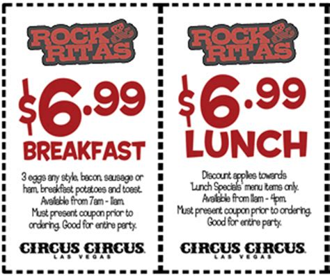 haircut coupons las vegas rock rita s las vegas breakfast lunch discount coupon