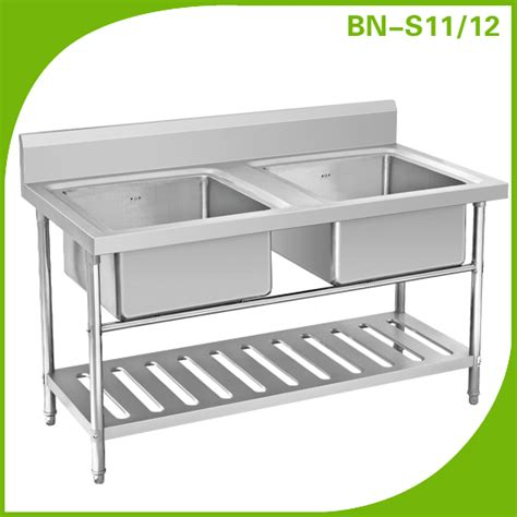 under bench sinks cosbao double sink bench with under shelf stainless steel