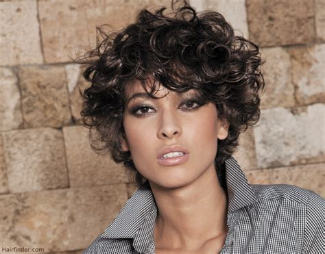 curly hairstyles on relaxed hair short haircut and curls with suppleness
