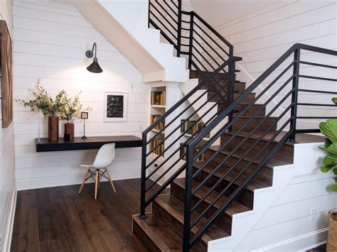Metal Banister Railing by Chip And Joanna Gaines Transform A Barn Into A Rustic Home