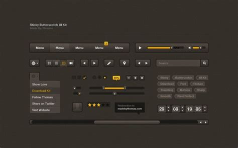 customizing ui layout in the visual editor black ui kit with tags psd file free download