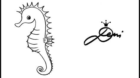 seepferdchen schnell zeichnen lernen   draw