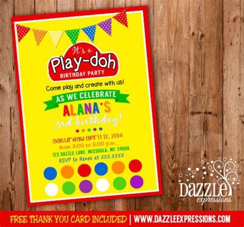 printable playdough recipe cards printable play doh inspired birthday party invitation