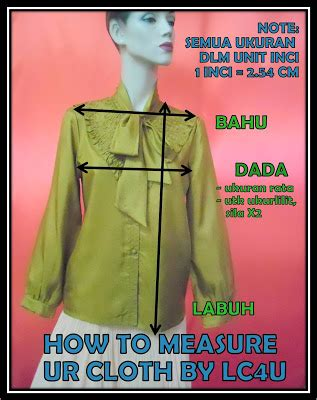 Preloved Baju Kemeja Baju Kerja Lengan Panjang how to measure tops bottoms vintagebylaishcloset4u
