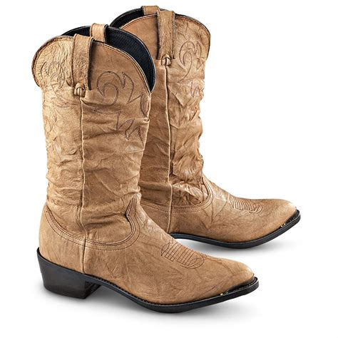 s durango boot 174 western slouch boots chestnut
