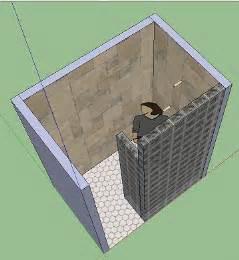 doorless shower 4x6 ish ideas ceramic tile advice