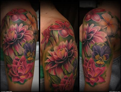 realistic flower tattoo photo realistic flower tattoos search tattoos