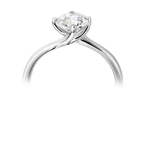 platinum twisted setting engagement ring