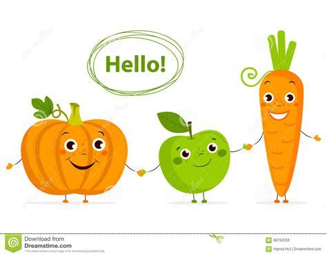 c fruit plano frutas y verduras divertidas de la historieta con los ojos