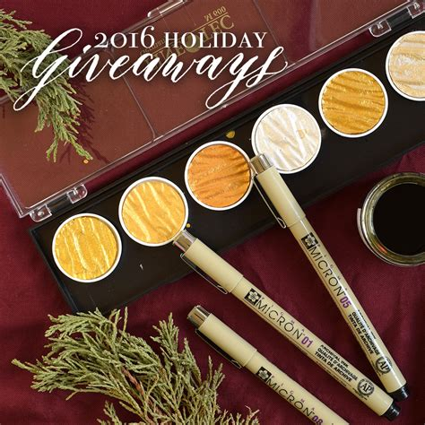 Holiday Giveaways 2016 - holiday art calligraphy giveaways the postman s knock