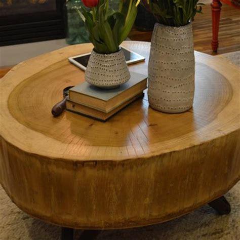 Tree Stump Coffee Table Diy Home Dzine Home Diy Make A Tree Stump Coffee Table