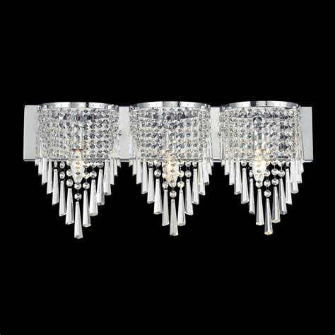 crystal vanity lights bathroom shop z lite 3 light tango chrome crystal bathroom vanity