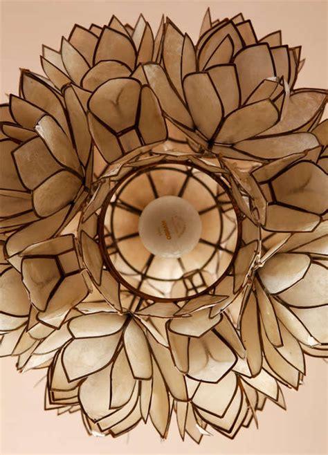 Lotus Flower Chandelier Shell Lotus Flower Chandelier At 1stdibs