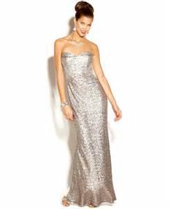 jump dress strapless sequin column gown dresses women