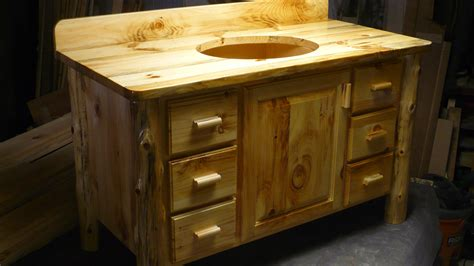 Knotty Pine Vanity Made Knotty Pine Bathroom Vanity By Harry S Cabin Furniture Custommade