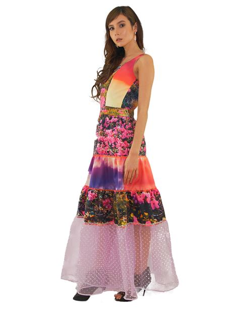 Dress Ayla danielle sunset tiered gown ayla clothing