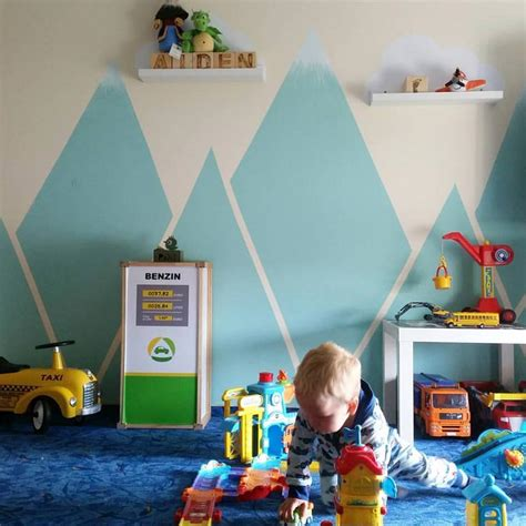 Kinderzimmer Junge Berge by Farbenfreunde Wandschablonen