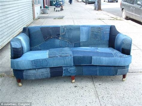 denim sofas for sale resident markets made of used on