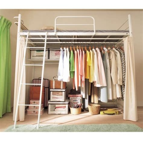 bed closet loft bed closet home designs pinterest