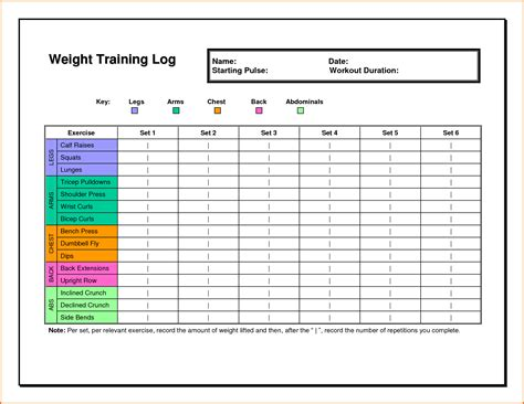 excel work log template 5 workout log excel divorce document