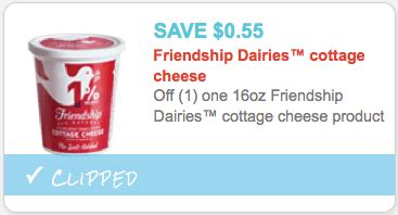 new 0 55 1 friendship cottage cheese coupon 0 89 at