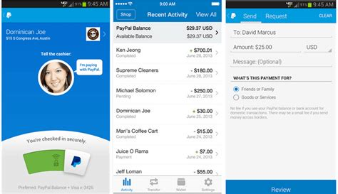 paypal android app pay in store and with the paypal mobile app
