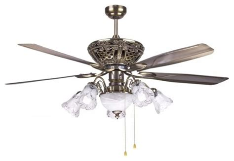 traditional decorative bronze ceiling fan light