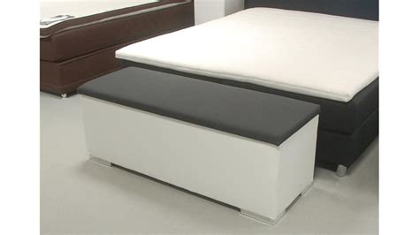 sitzbank truhe chest schlafzimmer in wei 223 und anthrazit