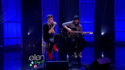 justin bieber live on ellen 2012 justin bieber as long as you love me live ellen show