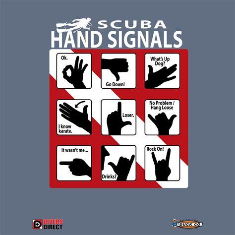 Tshirt Scuba Diving scuba signals dive t shirt
