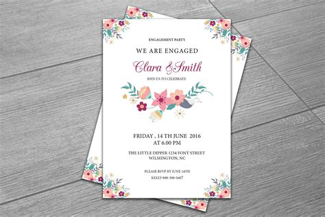 engagement party invitation template invitation