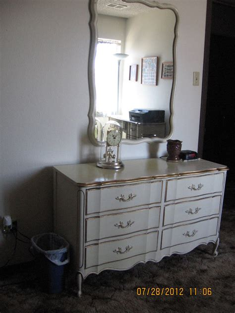 antique white dresser with gold trim i have a dixie antique white with gold trim dresser
