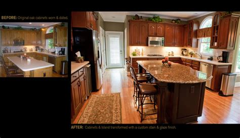 oak woodwork llc we are thinking about restaining our oak cabinets did you