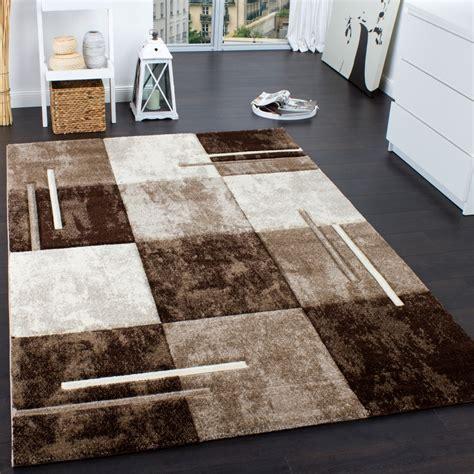 teppich modern designer teppich modern mit konturenschnitt karo muster