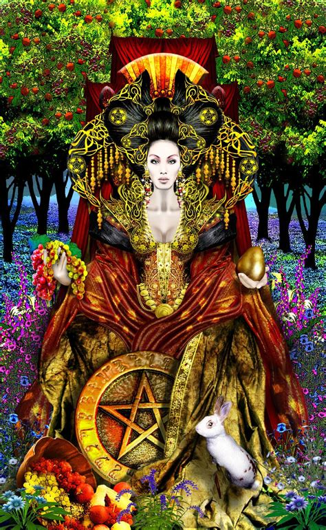 art work revised queen of pentacles revised by elric2012 on