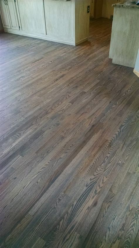 Red Oak Floor With Custom Gray Stain Hardwood Floors Grey