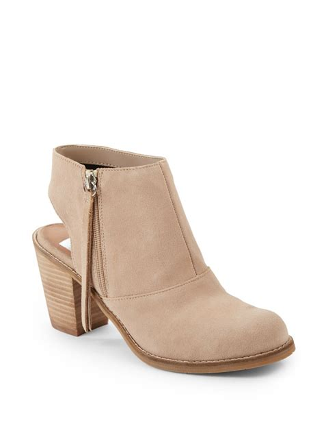 dolce vita ankle boots dolce vita jemima cutout suede ankle boots in beige