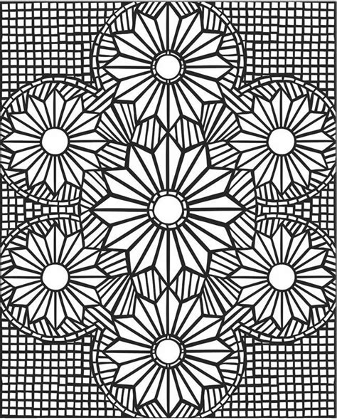 Coloring Pages Flower Mosaic Coloring Page Sacred Geometric Flower Coloring Pages