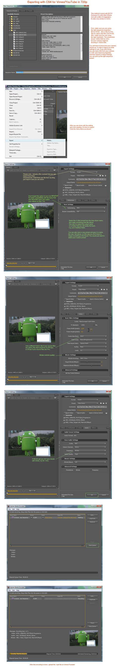 export adobe premiere pro cs4 best compression settings for adobe premiere pro cs4 on vimeo