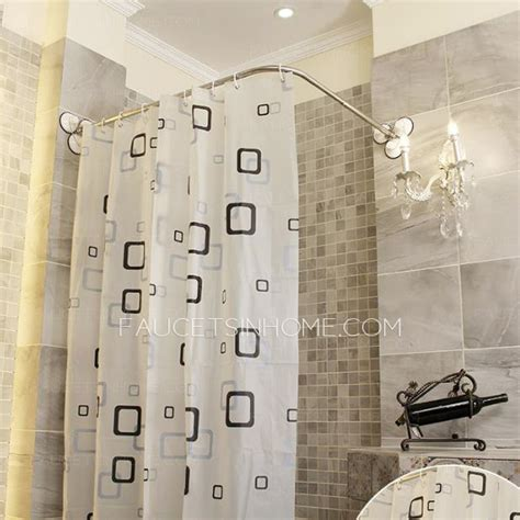 l shaped shower curtain affordable l shaped white shower curtain rod no punch