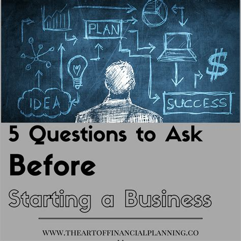 5 financial questions to answer before starting a 5 questions to ask before starting a business the art of